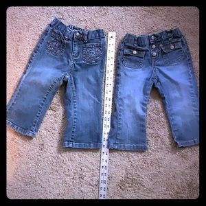 2 pair Baby GAP Stretch Jeans - 18-24 months- Blue